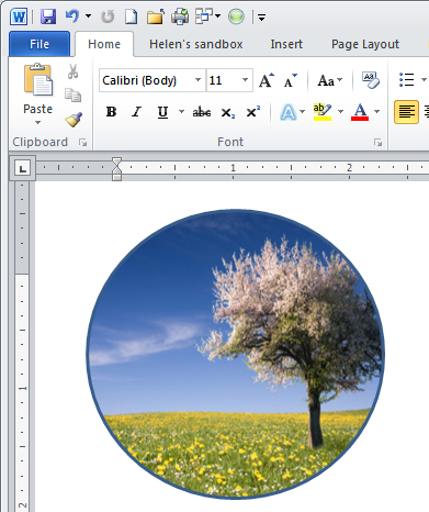 Shape images and Clip Art in Word 2010 « projectwoman - word clip art