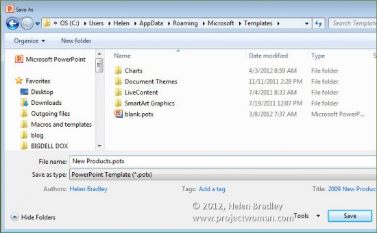Office 2010 \u2013 how to save files as templates « projectwoman