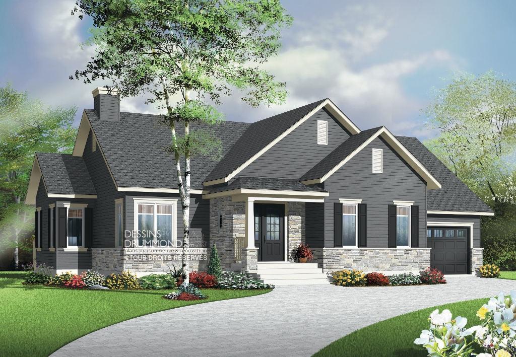 Plan De Maison Moderne Avec Garage