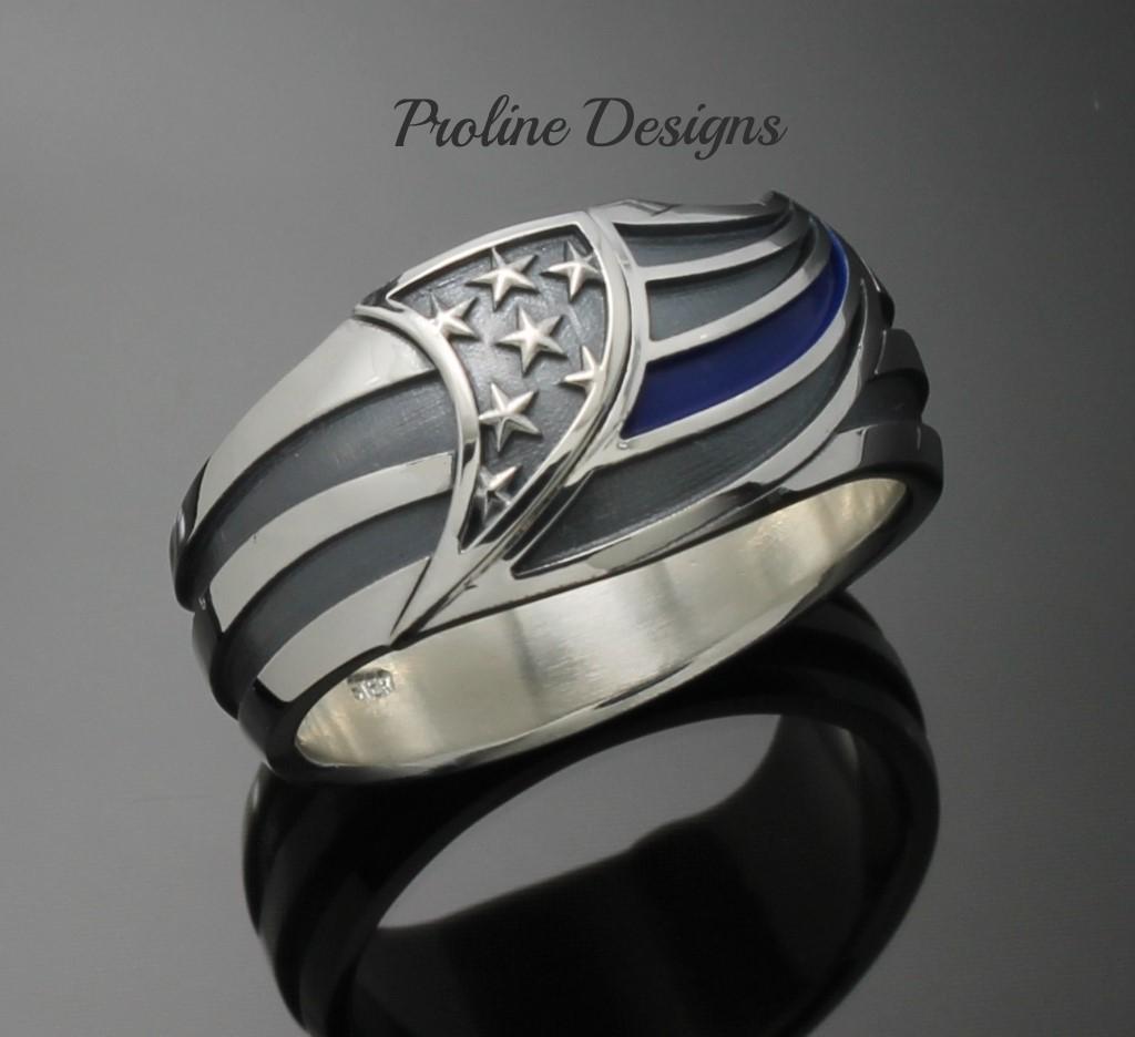 Tremendous Silver Style Proline Designs Thin Blue Line Ring Black Thin Blue Line Ring Ebay Thin Blue Line Ring Silver Style Thin Blue Line Ring wedding rings Thin Blue Line Ring