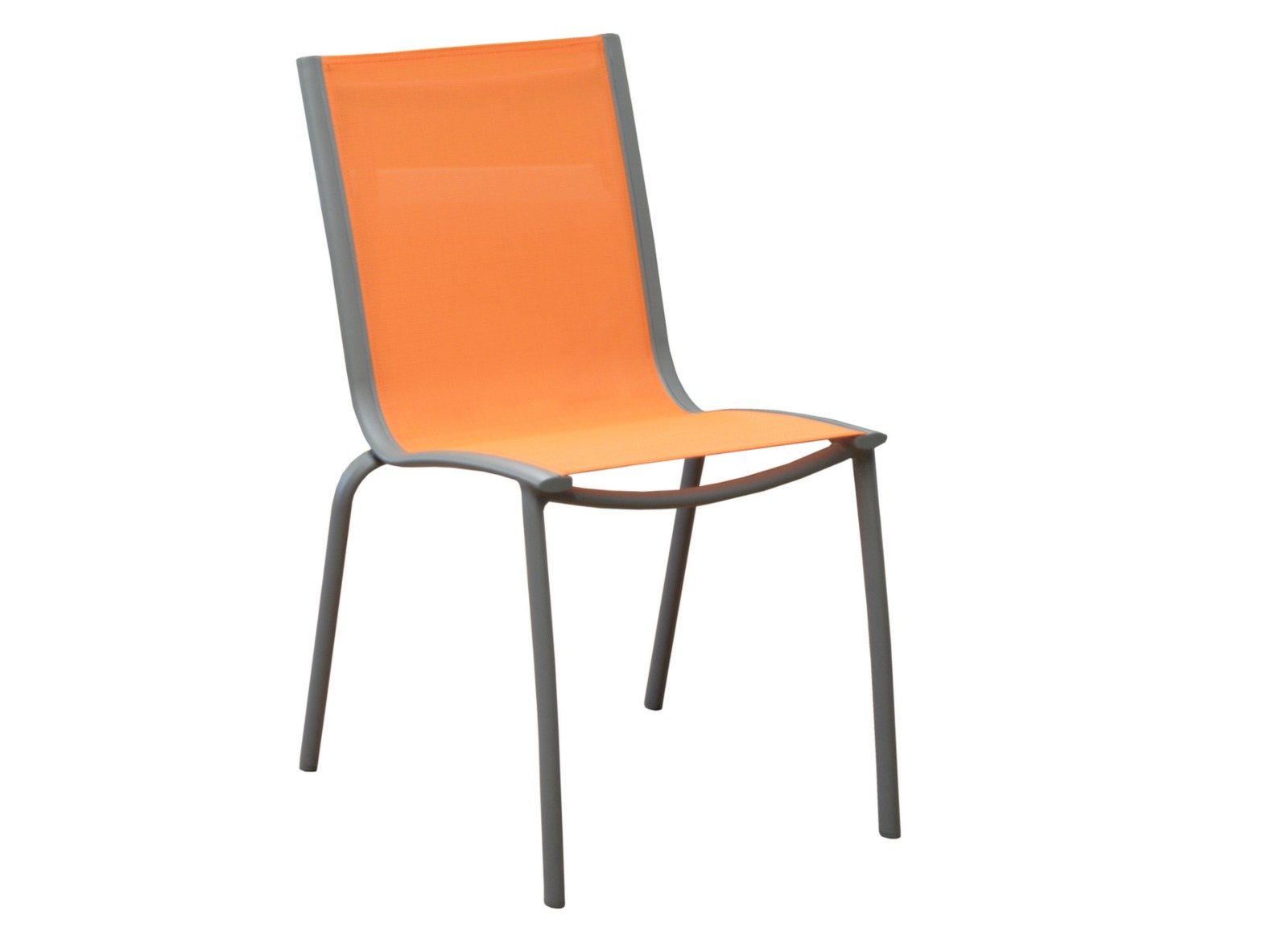 Salon De Jardin Orange Chaise De Jardin En Aluminium Linéa Empilable Proloisirs