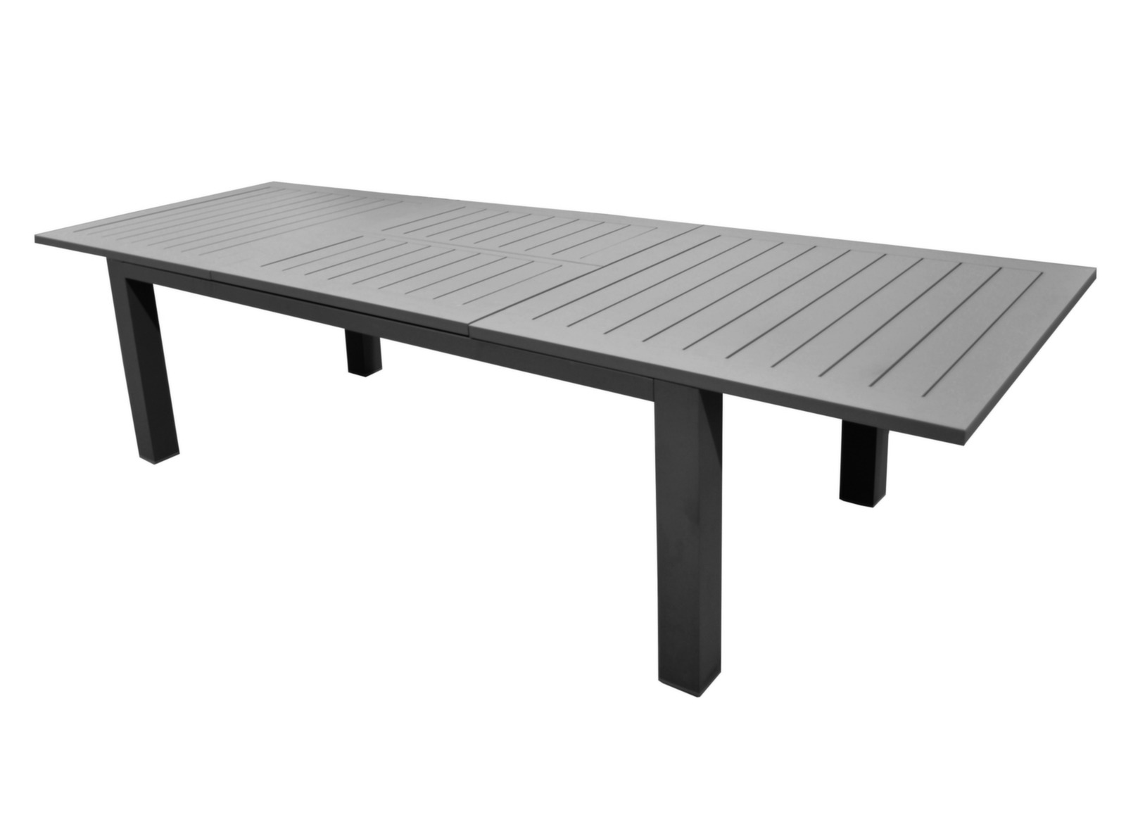 Table Allonge Papillon Housse Protection Pour Table 220x110 Polyester Pvc Gris