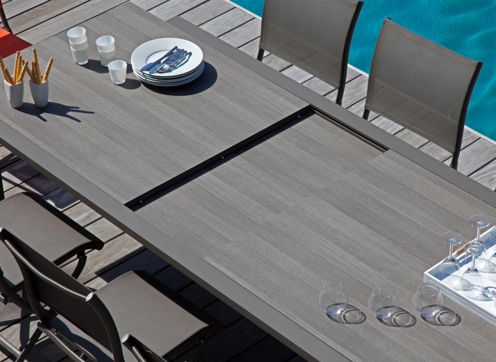 Salon De Jardin Oceo | Table De Jardin Juan Avec Plateau Trespa ...