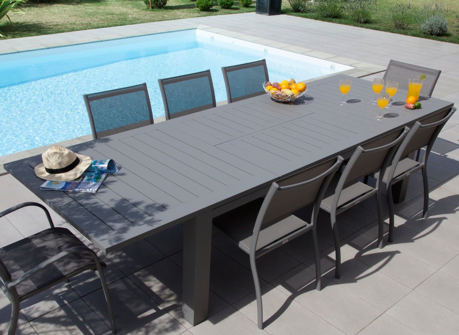 Table Jardin 12 Places Table De Jardin Aluminium 12 Places Aurore - Gamme Océo