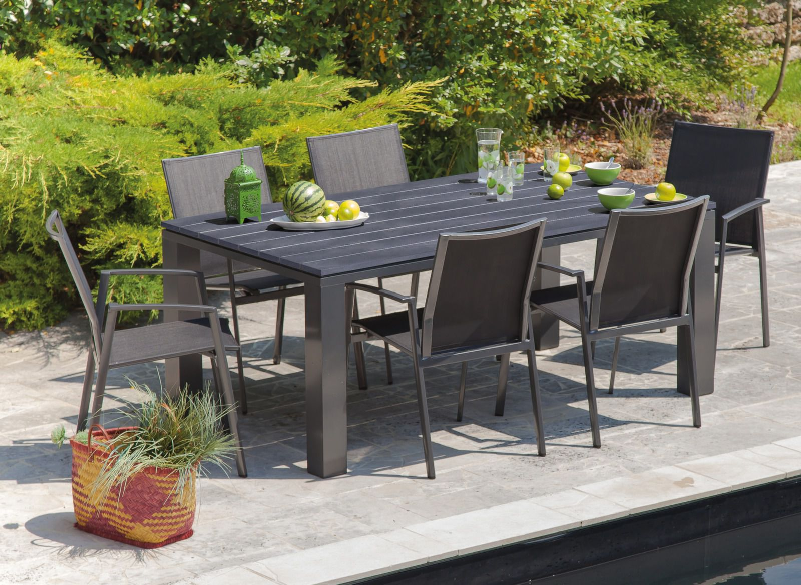 Table 180 Cm Table Jardin Alizé 180 Cm 43 6 Chaises Palma Promotion