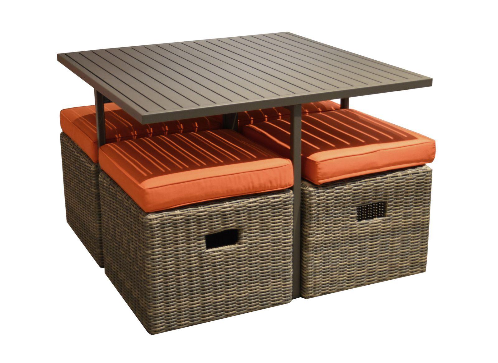 Salon De Jardin En Rotin Synthétique | Incroyable Mobilier Jardin ...