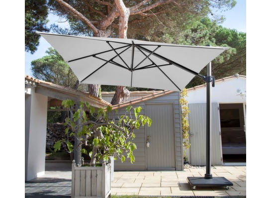 Chaises Alu Parasol Déporté Rectangle De 3x4m Inclinable - Proloisirs