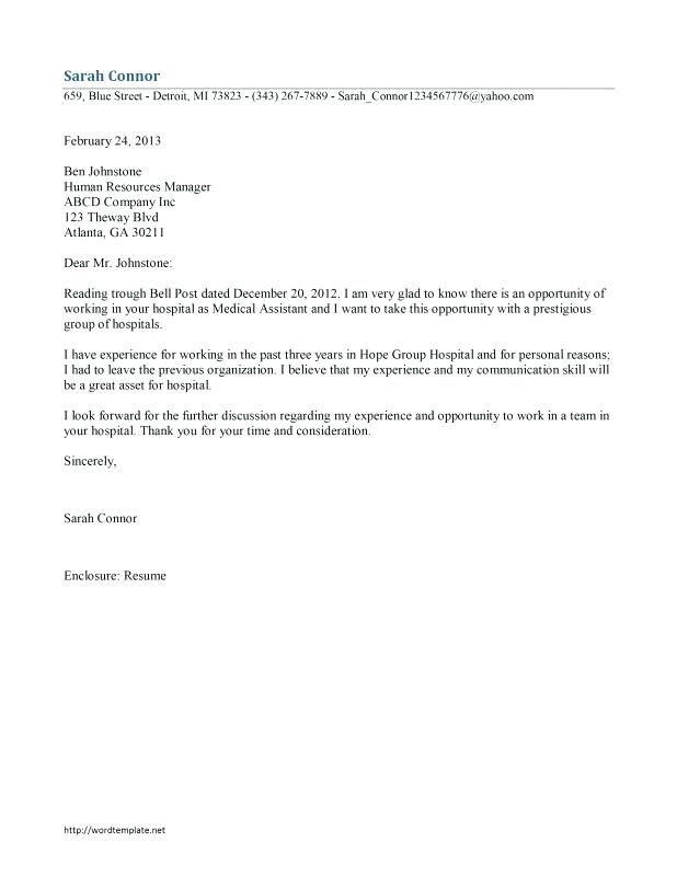 medical assistant cover letter sample \u2013 promisedesign - cover letter for medical officeresume cover letter example
