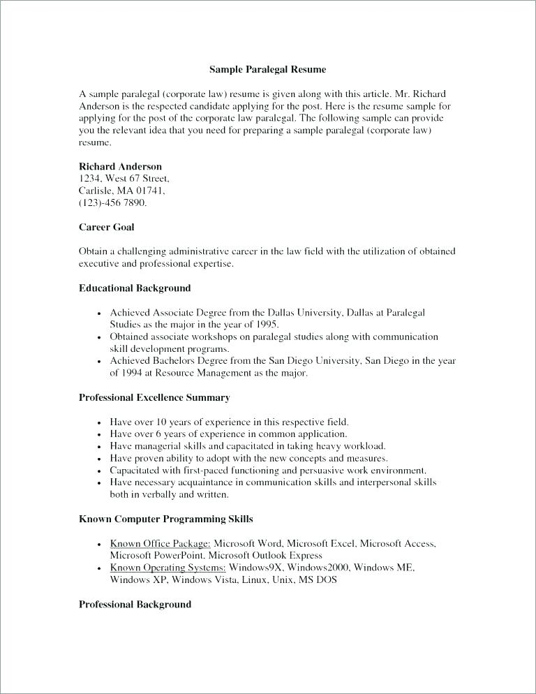 Corporate Paralegal Resume nfcnbarroom