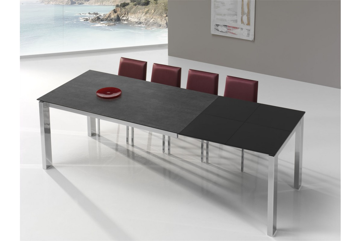 Table Extensible Ceramique Table Fixe Extensible Céramique Epoxy Chromé Bois Promo