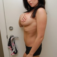Spunky Angels: Krissys huge juicy tits are falling out of her cute little top