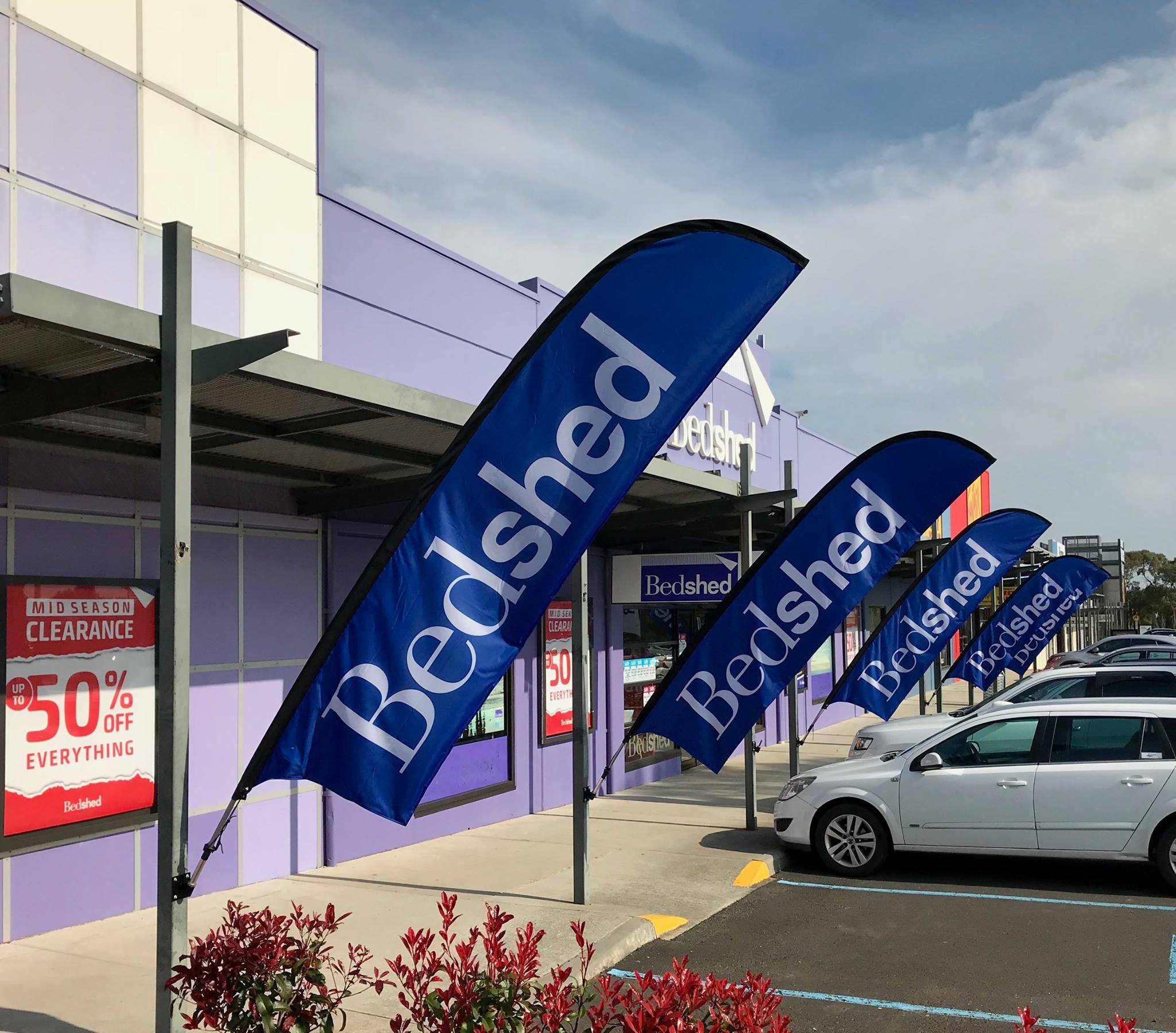 Bedshed Melbourne Bedshed Feather Banners And Flags Promocolour Australia