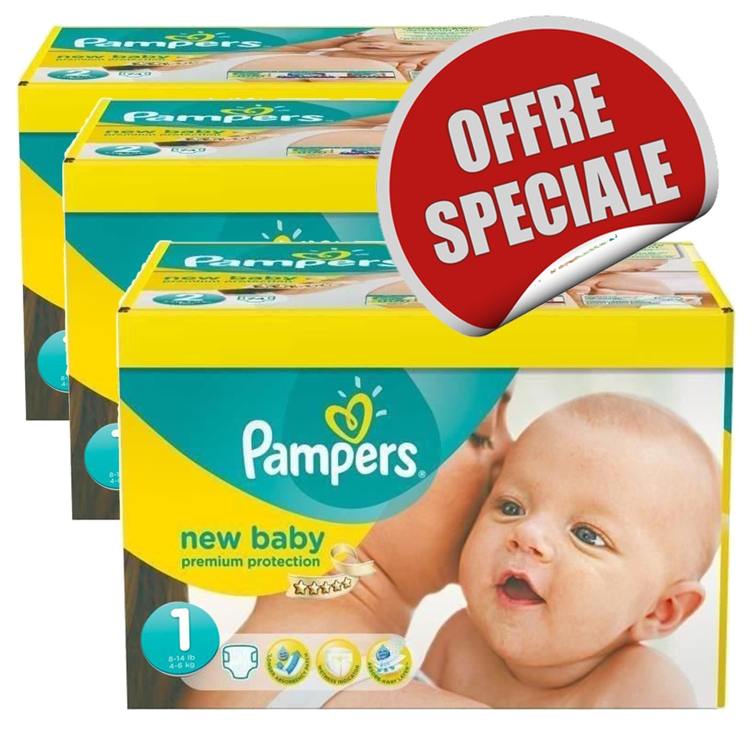 Couche Pampers Prix Maxi Pack 516 Couches Pampers New Baby Dry Taille 1