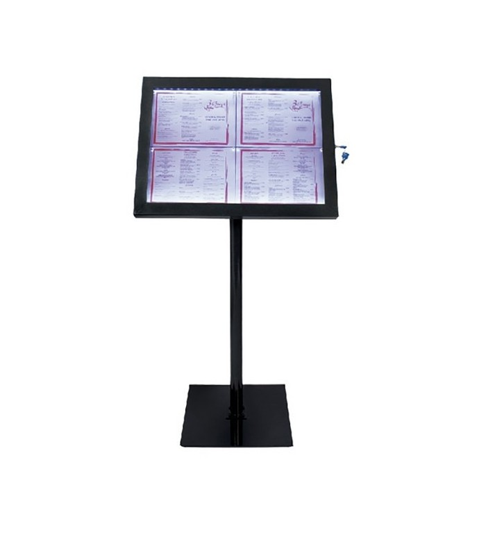 Mobilier Exterieur Fast Presentoir Pour Menu Led Pour Restaurants, Bar, Brasserie