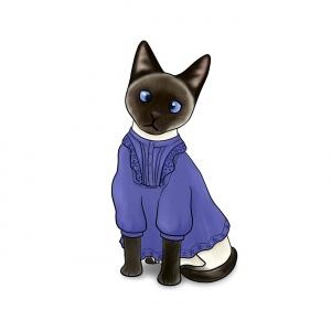Siamese Cat in a Smock