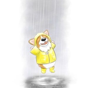 Canary Yellow - Corgin' in the Rain v2