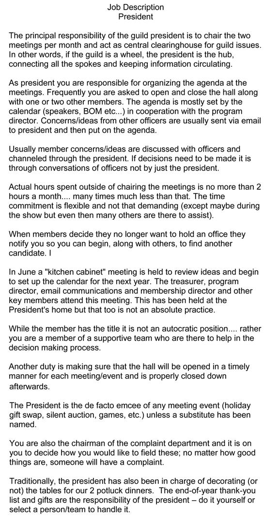 Volunteer Position Descriptions  2014 Proper Bostonian Quilters - it director job description