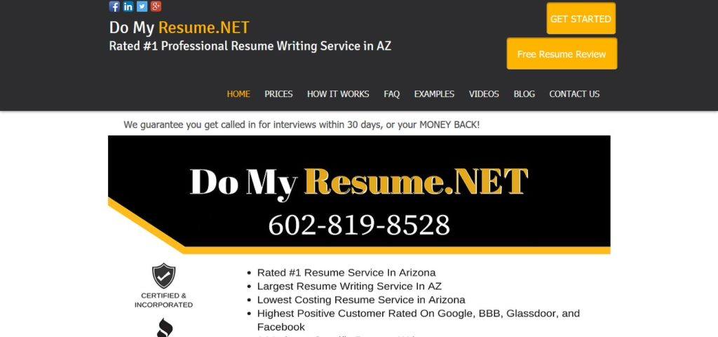 DoMyResumenet Review (55/10) - ProperResumes - review my resume
