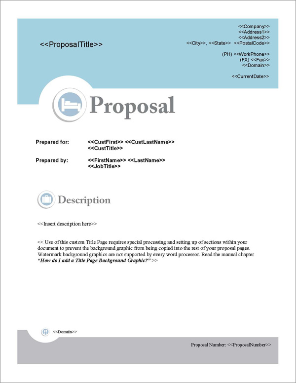 Business Proposal Templates Free Sample Of Proposal Proposal Pack Hospitality 1 Software Templates Samples