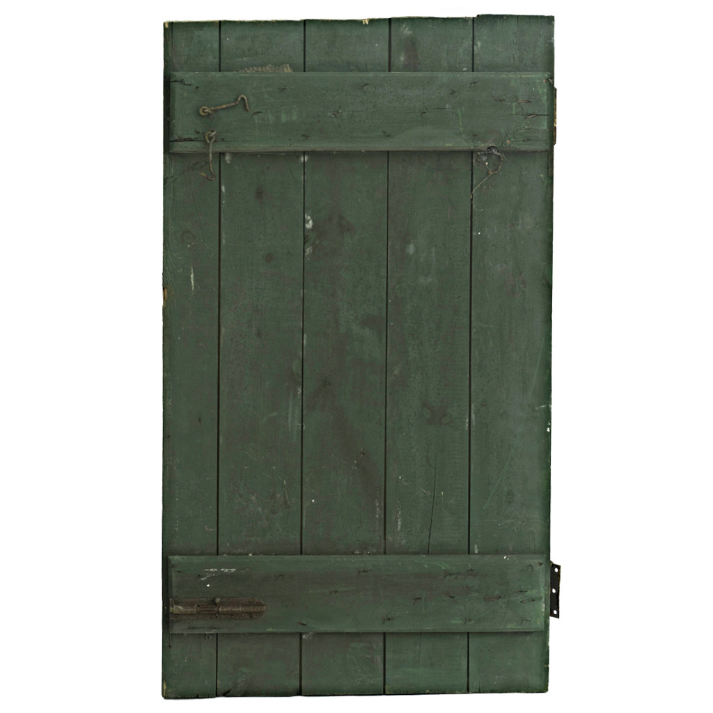 Painted Barn Doors Hunter Green Worn Painted Barn Door