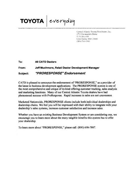 ProResponse Automotive CRM Email Follow-up Letters - satisfaction of mortgage form