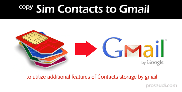 how to send contacts from gmail to android