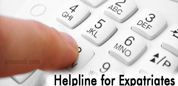 Helpline in Saudi Arabia