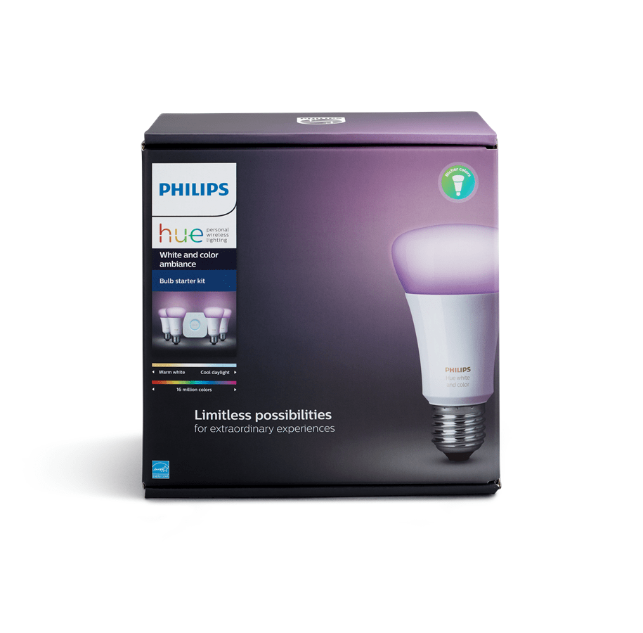 Philips Hue E27 Color Starter Kit - Richer Colors Philips Hue E27 Color Starter Kit - Richer Colors + Switch | Edullinen