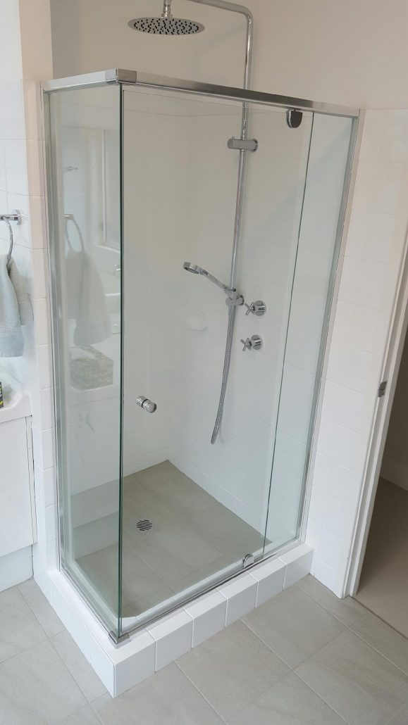 Black Freiday Semi Frameless Shower Screens | Shower Screens Sydney