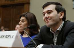 Martin Shkreli smirks during a House Oversight and Government Reform Committee hearing. Shkreli is the former CEO of Turing Pharmaceuticals LLC.