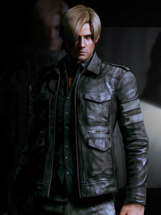 Picture Of Stock Exchange Leon Kennedy Leather Jacket Resident Evil 6 Jacket