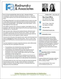 October 2015 Newsletter  IRA Protection Planning ...