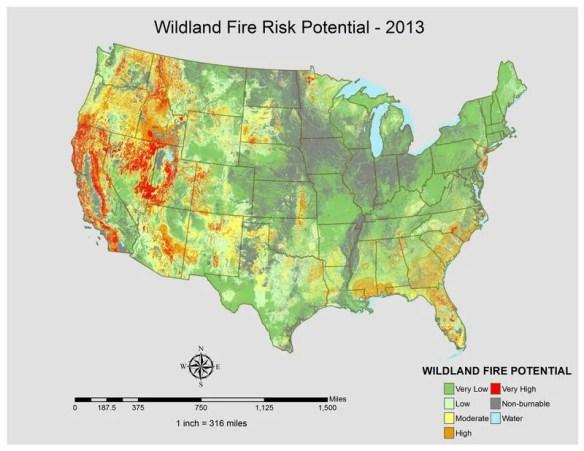 PM Wildland Fire Risk 2013