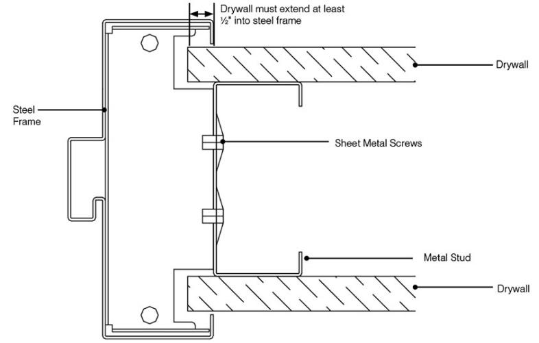wood door frame diagram