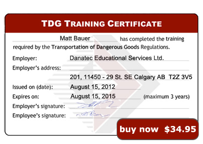 forklift training certificate template - Dangerous Goods Certificate Template