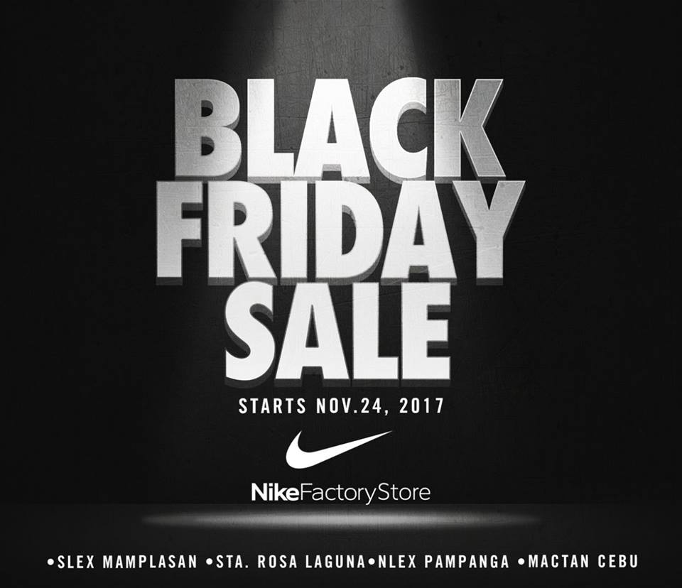 Black Sale Black Friday Sale At Nike Factory Stores Starting November 24 2017