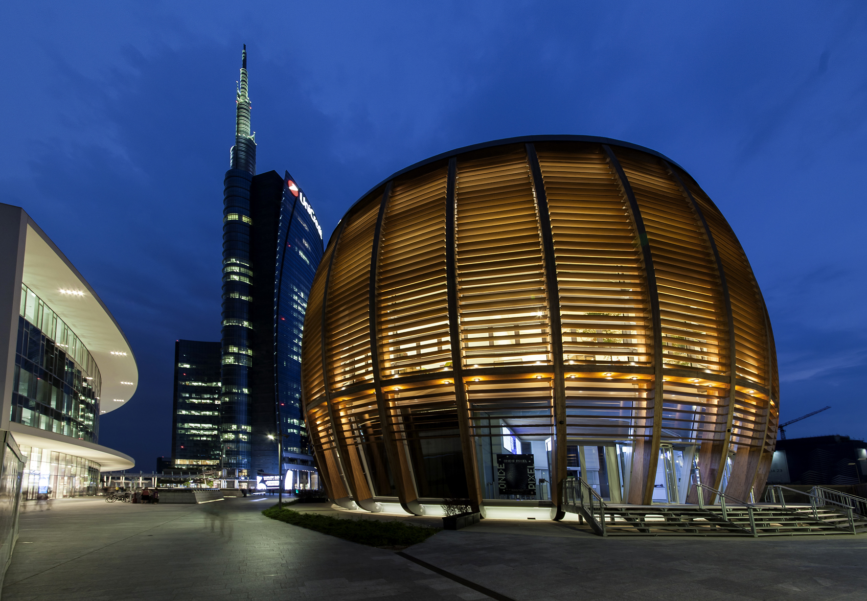 Moderne Pavillons Unicredit Pavillon In Mailand – Beleuchtung Als