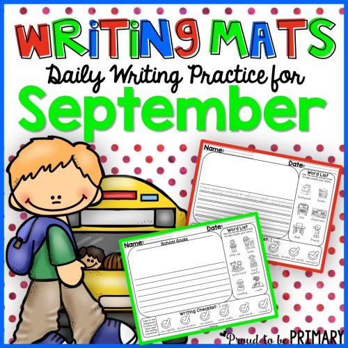 Writing Mats for September by Proud to be Primary