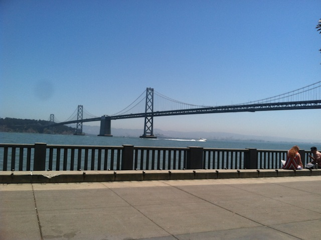 San Francisco Bay Area iPhone job app bridge view California