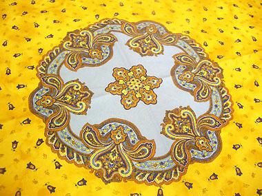 Round Tablecloth Coated Marat D39avignon Tradition