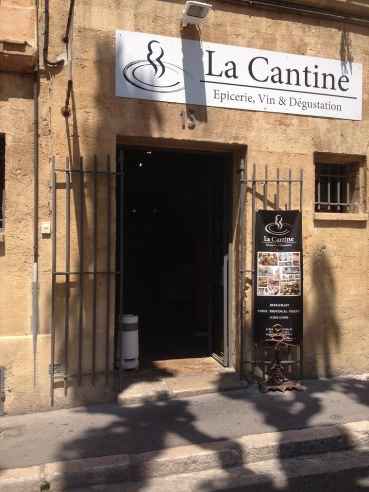Aix en Provence restaurant La Cantine