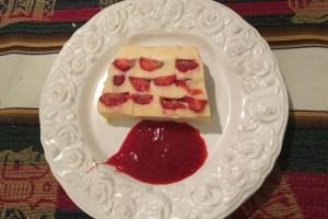 Almond cream and strawberry