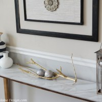 DIY Chic Marble Top Console Table