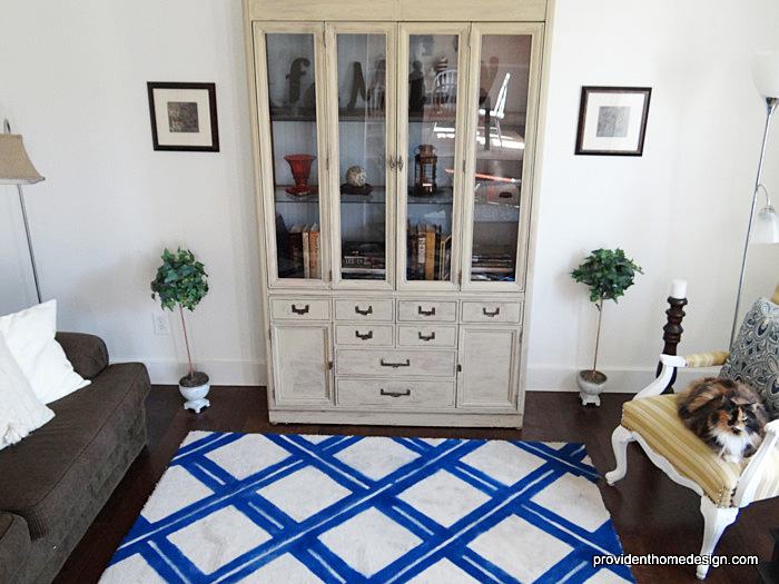 How to Update and Paint a Hutch or Bookcase - living room hutch
