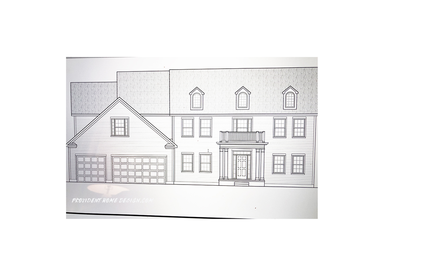 Home Design Sketch The Exterior Drawing Of The House We Are Building Provident Home
