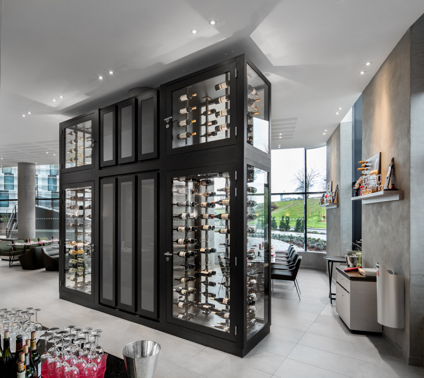 Architecture D'intérieur Xavier Cartron Architects Client Categories Provintech Custom Wine Cabinets