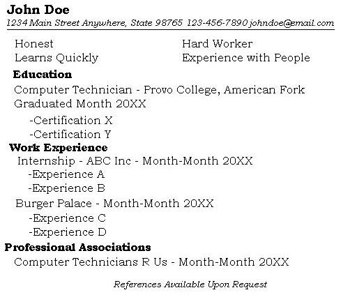 how to make a resume with only one job - Onwebioinnovate