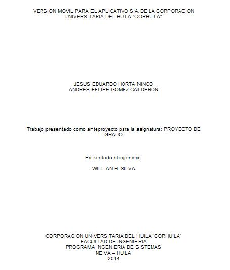 SUB-PORTADA TRABAJO PROYECTO DE GRADO