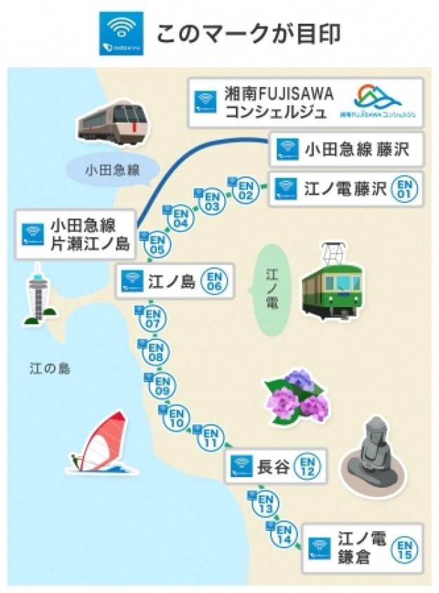 新たに利用可能となる江の島・鎌倉エリア