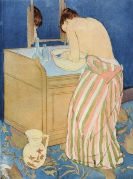 《沐浴する女》1890-91年、 ドライポイント、アクアチント、36.7×26.8cm、ブリンマー・カレッジ蔵 Courtesy of Bryn Mawr College
